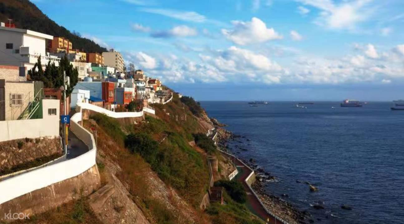 cliffside views West Busan Half Day/Day Tour