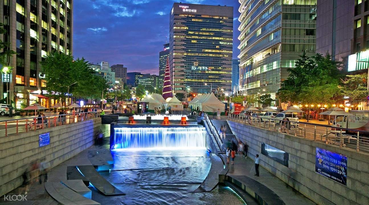 a river in Seoul at night