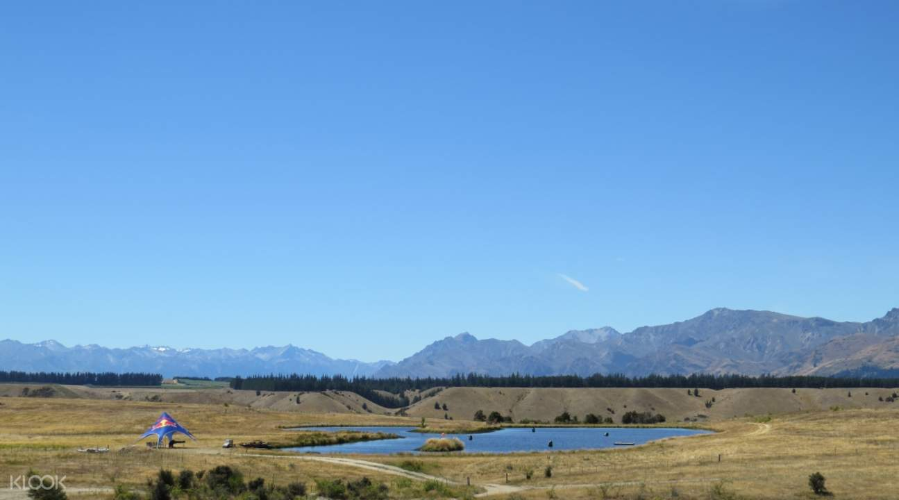 backdrop of queenstown in the southern hunting adventures shooting ranges