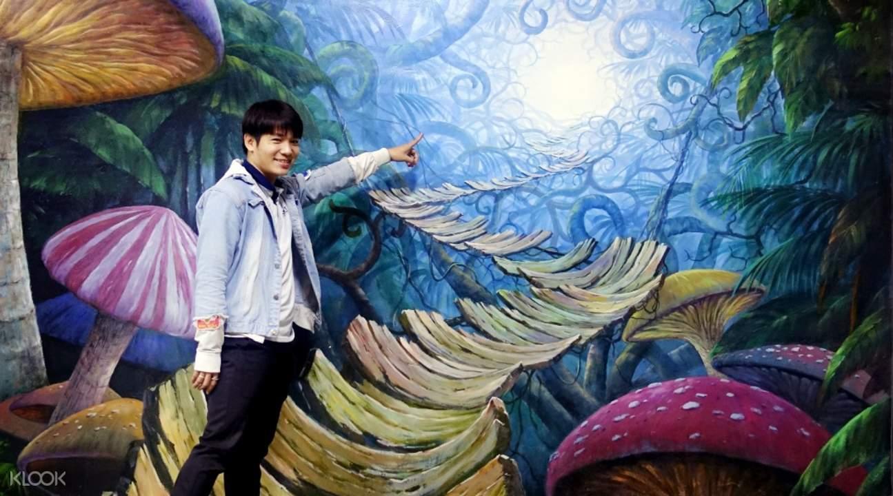 zona fantasi di dalam museum