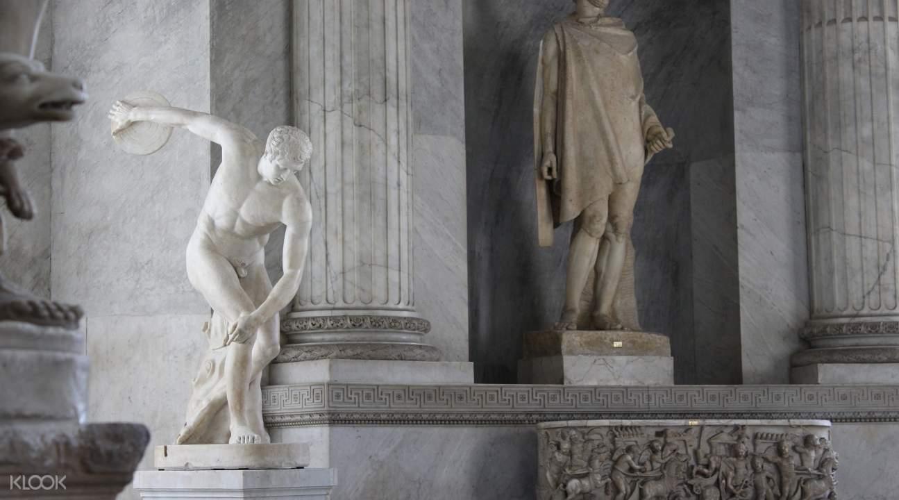 sculptures in the Vatican Museums