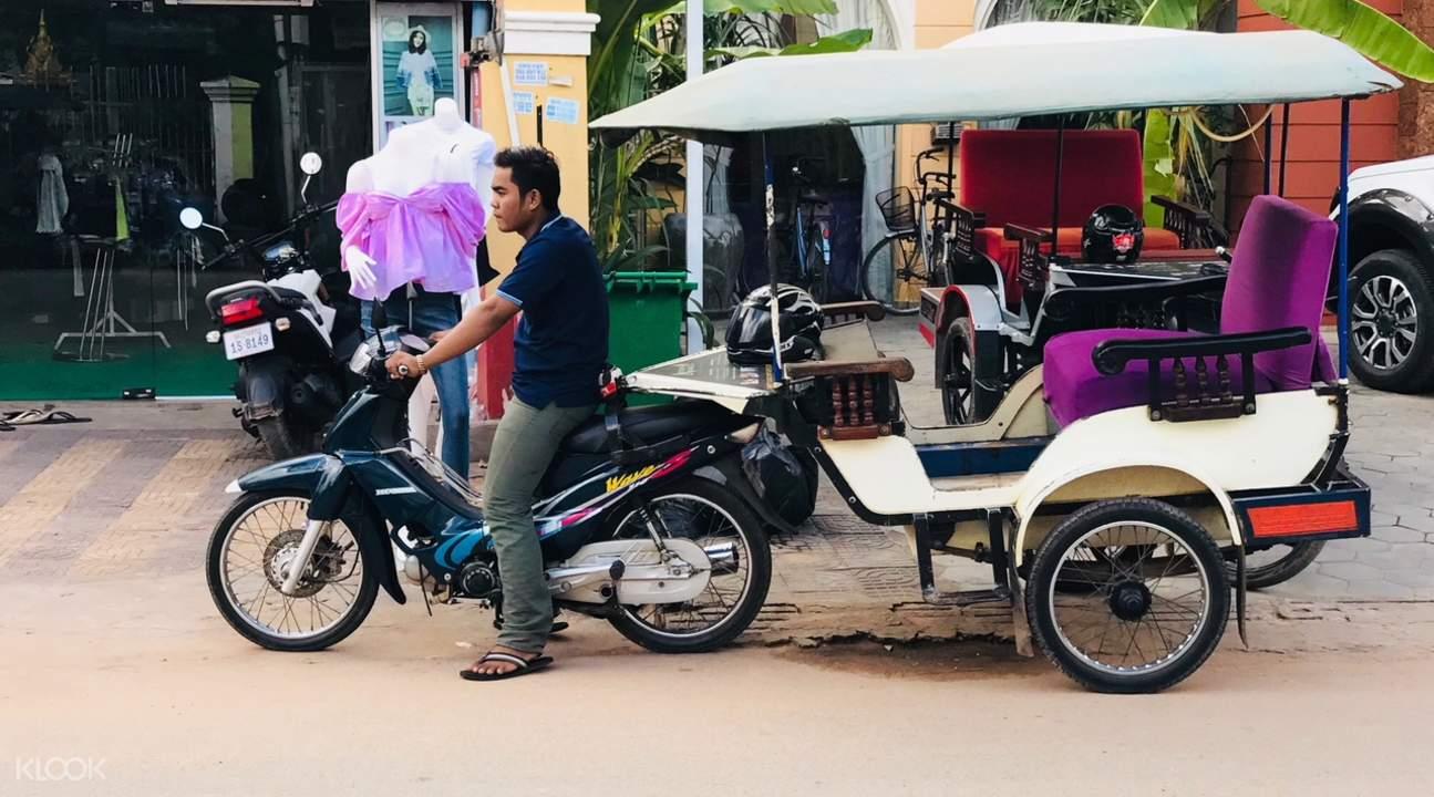 tuk tuk phnom krom temple private tour by tuk tuk siem reap cambodia