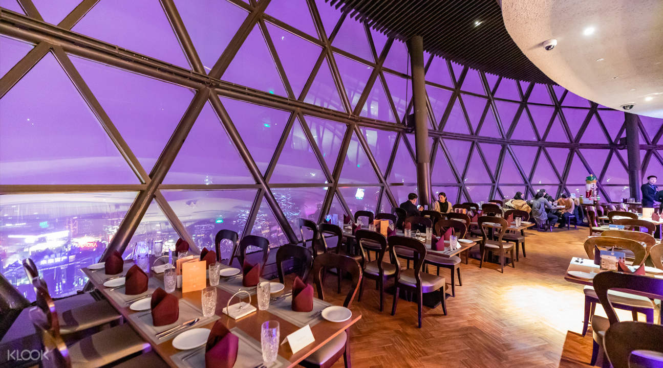 Oriental Pearl Revolving Restaurant panoramic view