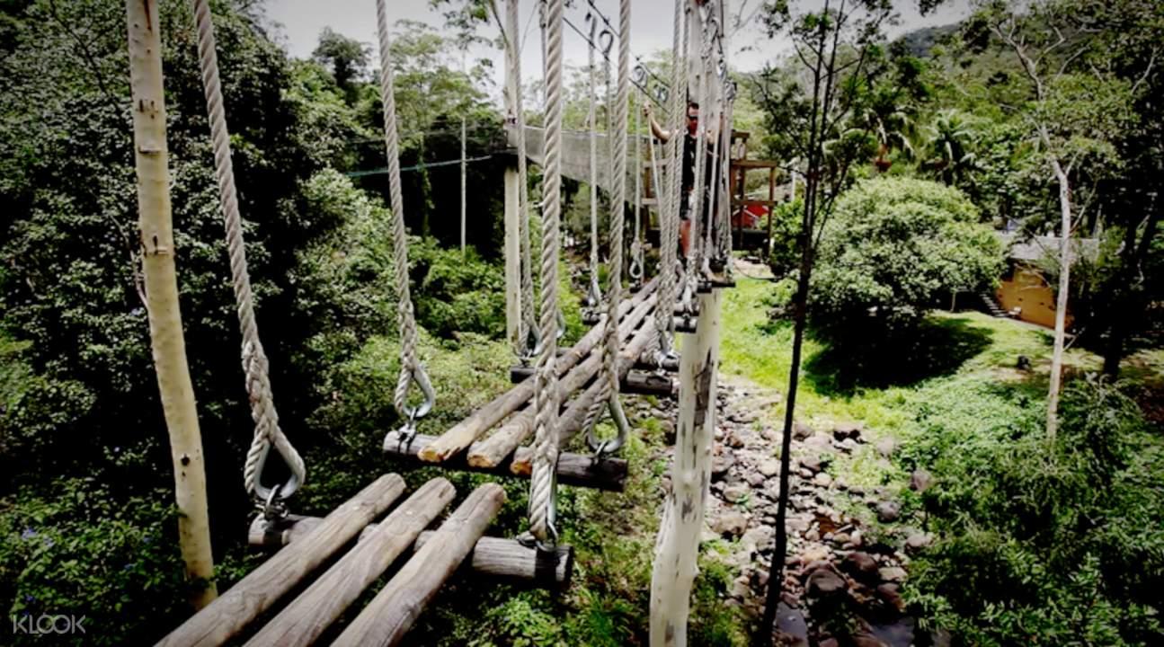 jembatan gantung di treetop challenge