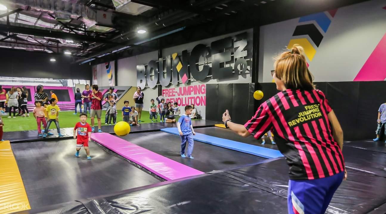 kids at bounceinc bangkok thailand