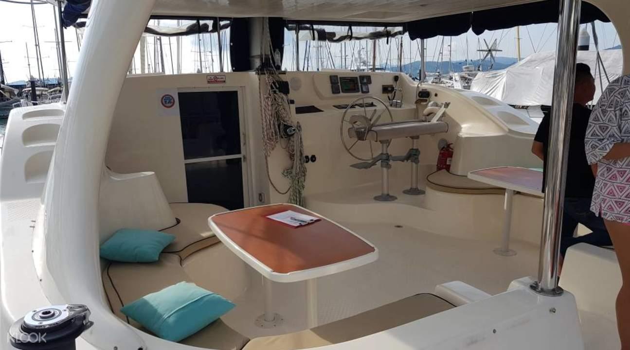 Langkawi luxury cruise yacht interior