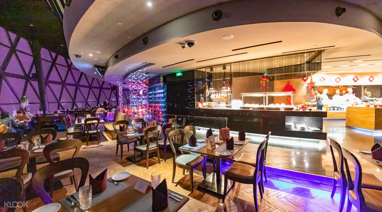 Oriental Pearl Revolving Restaurant interior