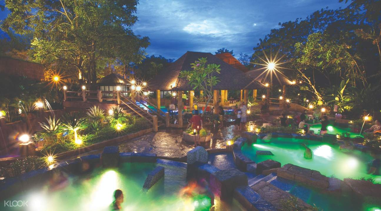 hot spring and spa at night near crystal spa kuala lumpur malaysia