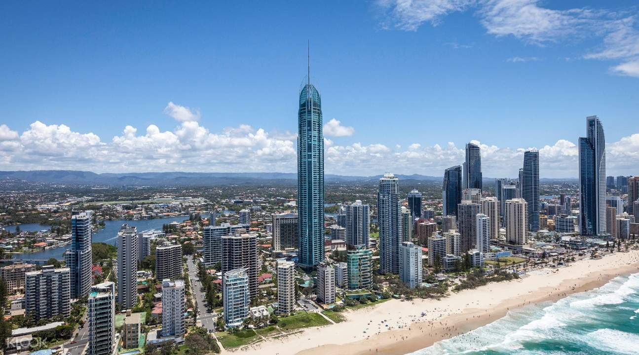 panoramic view of gold coast from the gold coast observation deck