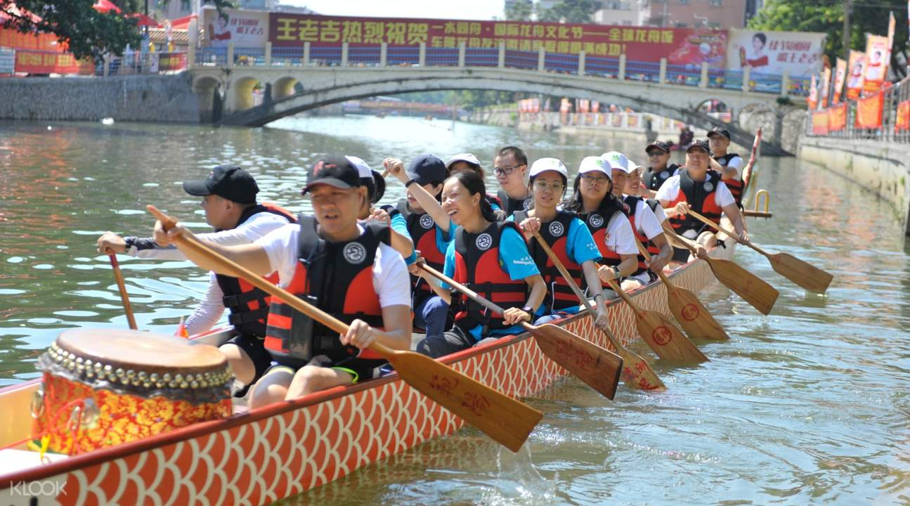 people on dragon boat