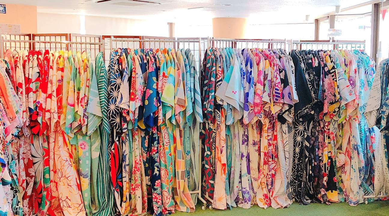 selection of kimonos