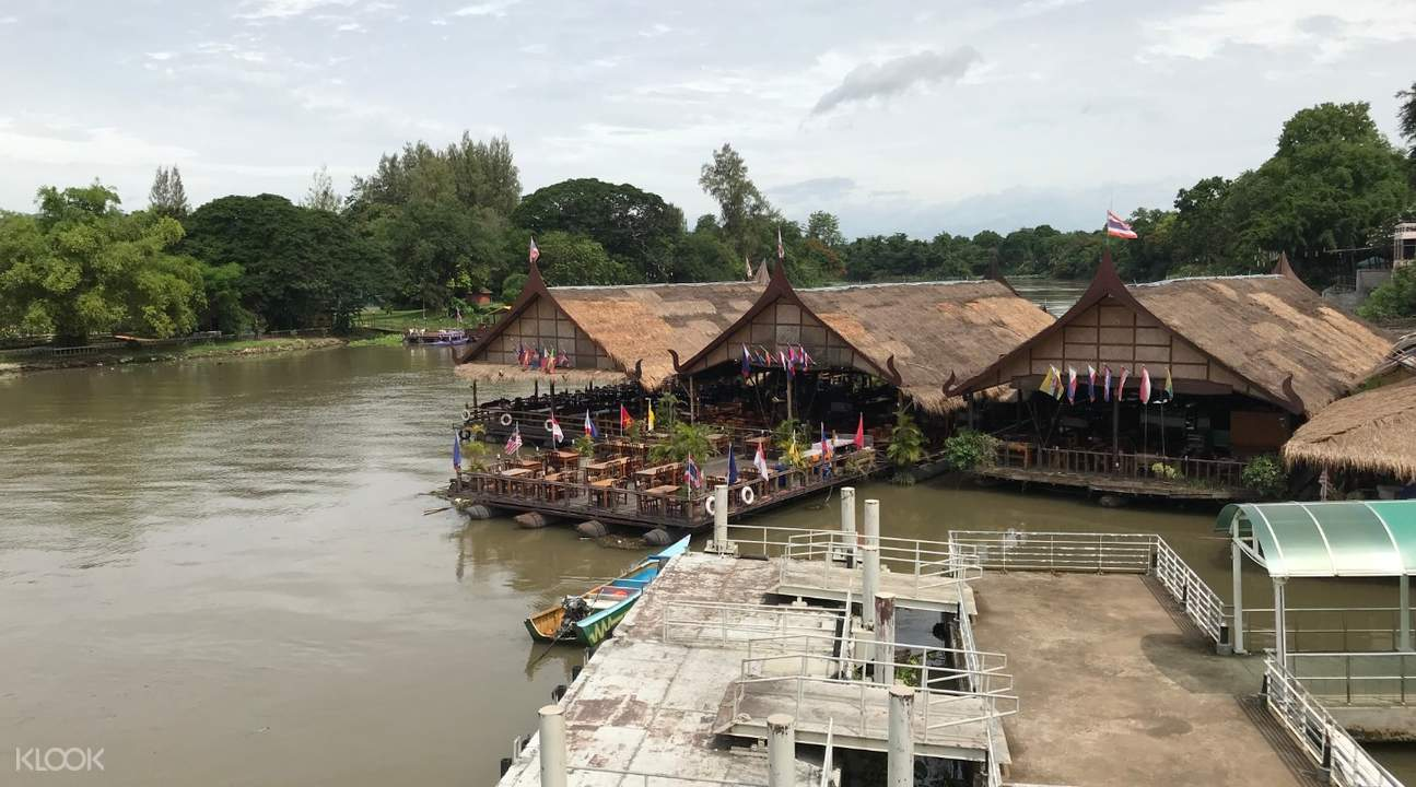 huts and boardwalk in River Kwai