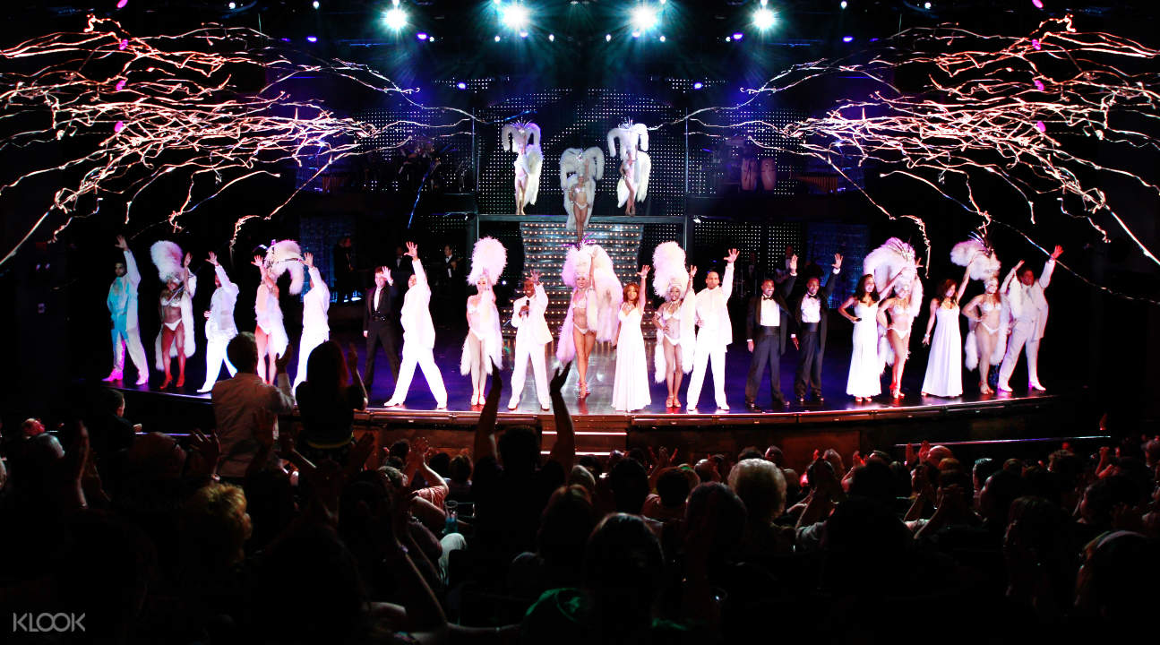 a burlesque performance in Las Vegas
