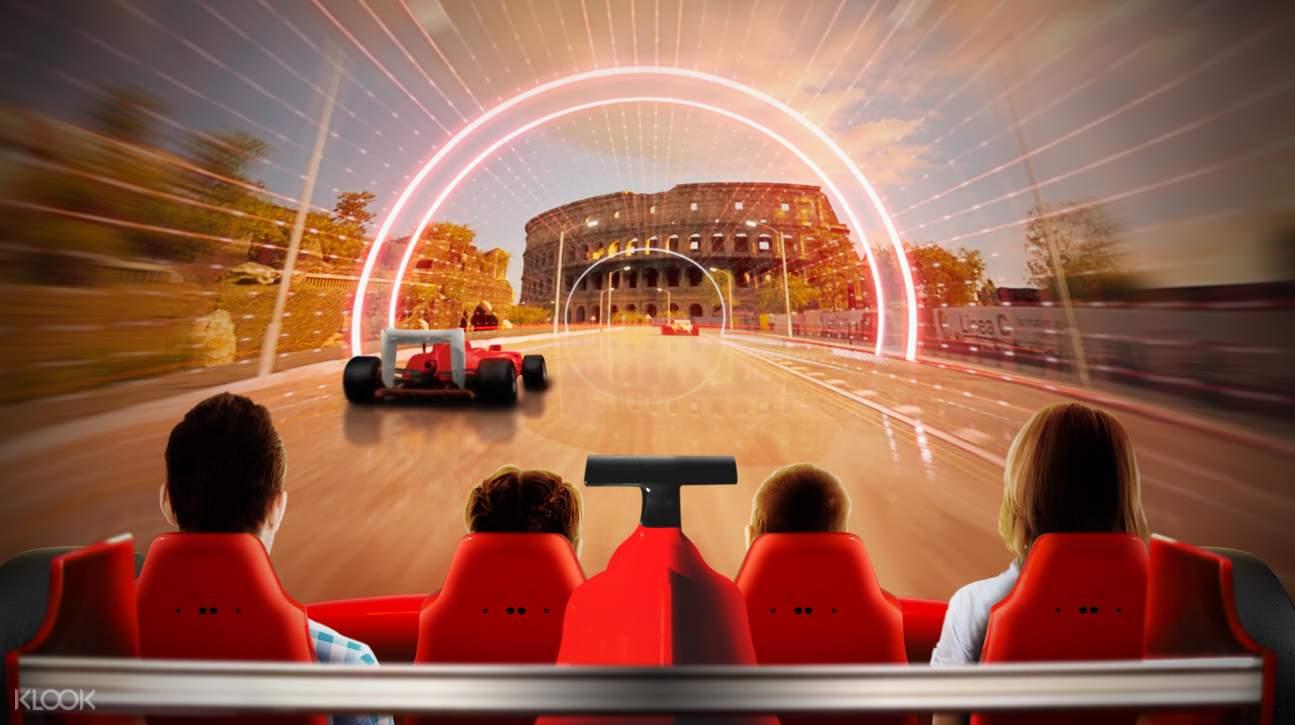 a game inside Ferrari Land