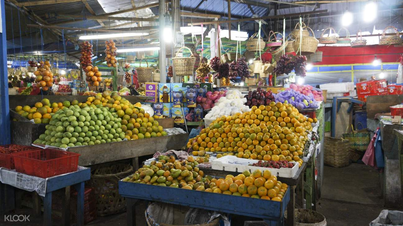 different fruits in a local fruit market