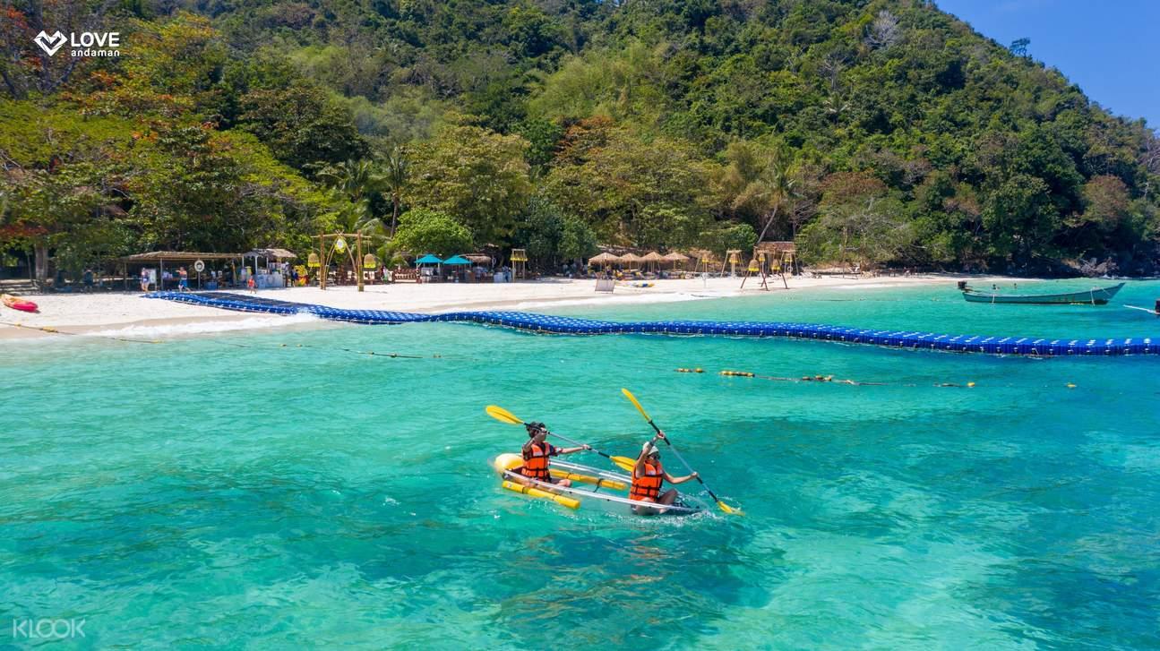 kayaking at banana beach