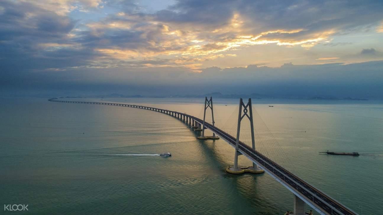 a view of Hong Kong-Macao-Zhuhai Bridge
