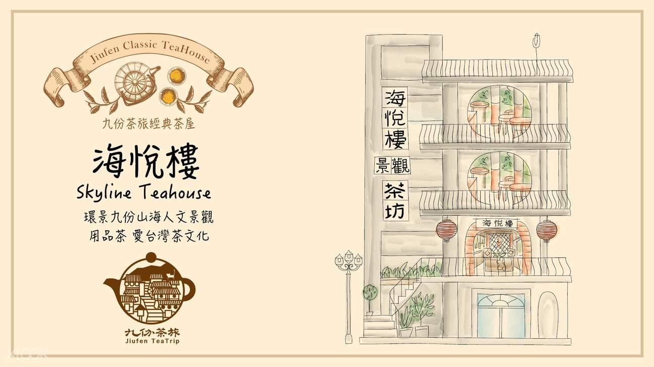 ร้านน้ำชา Skyline Teahouse ในจิ่วเฟิ่น - กรุงไทเป ประเทศ