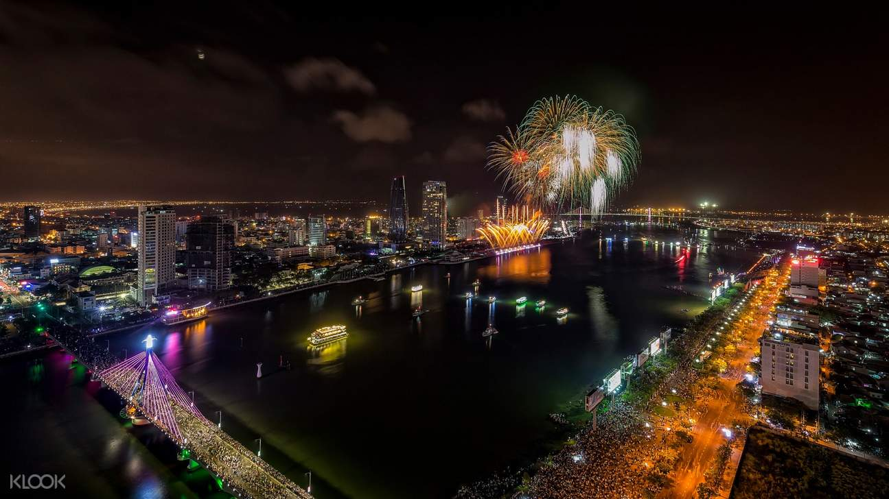 fireworks during Da Nang International Fireworks Festival