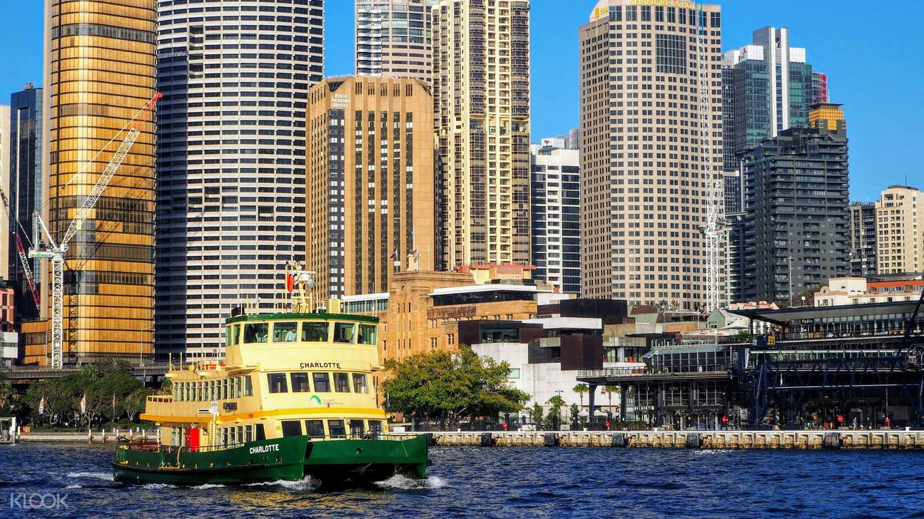 Sydney Opera House and Harbour Bridge from Royal B