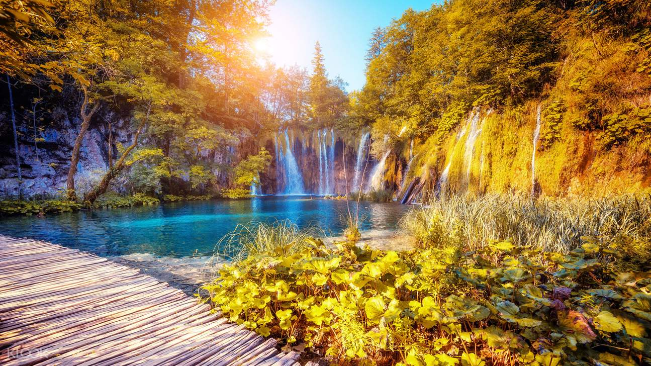 one of the lakes in Plitvice Lakes National Park