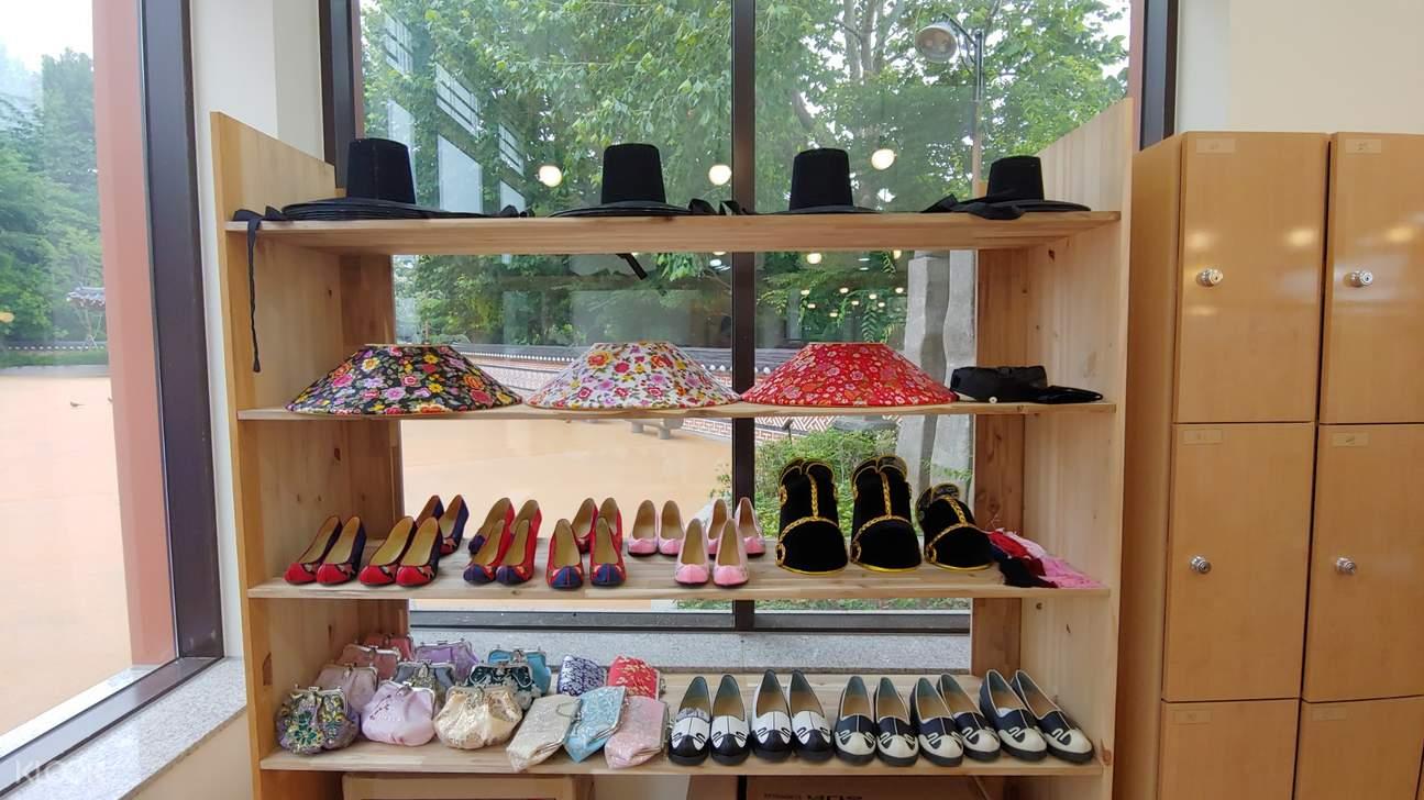 hanbok hats and shoes