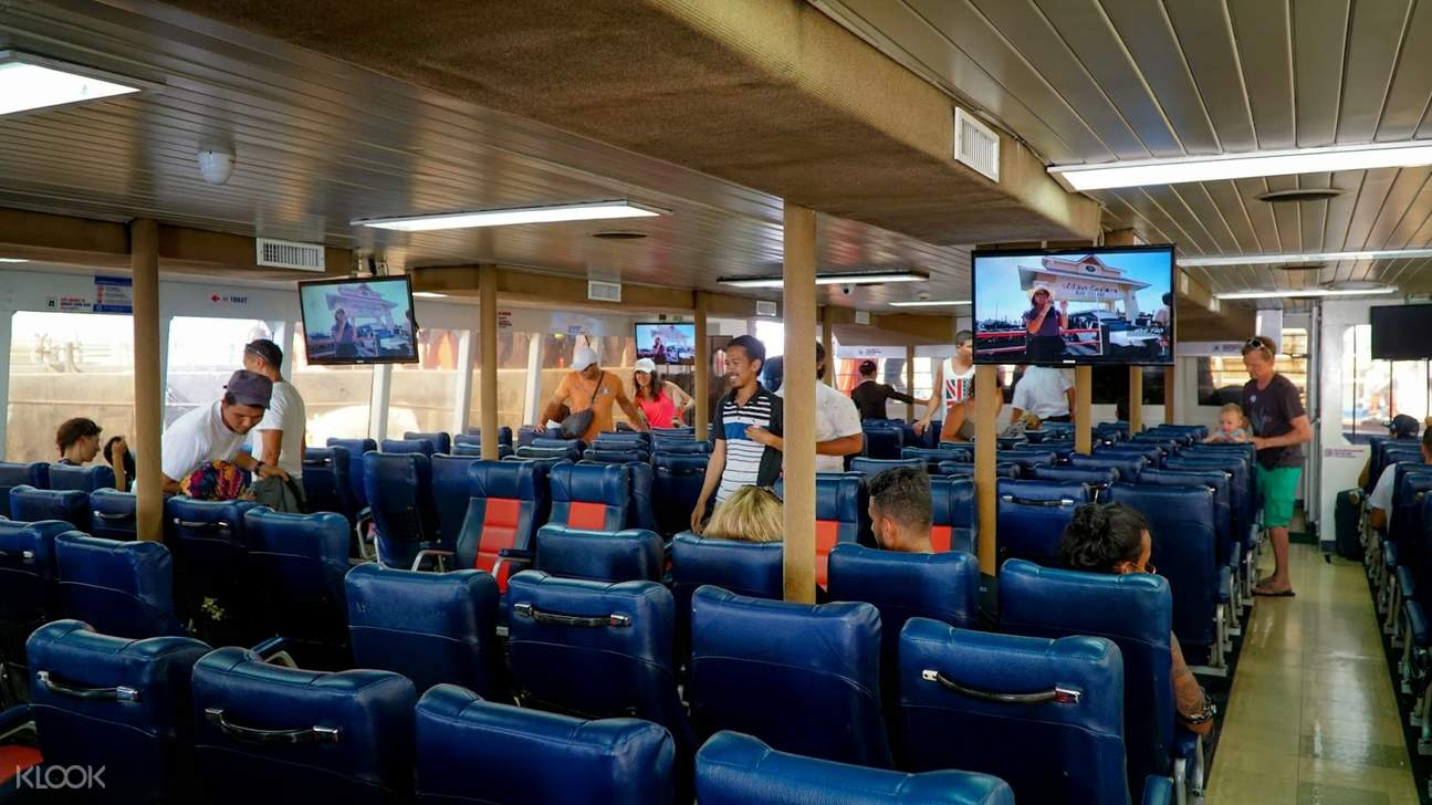 interior of ferry in thailand