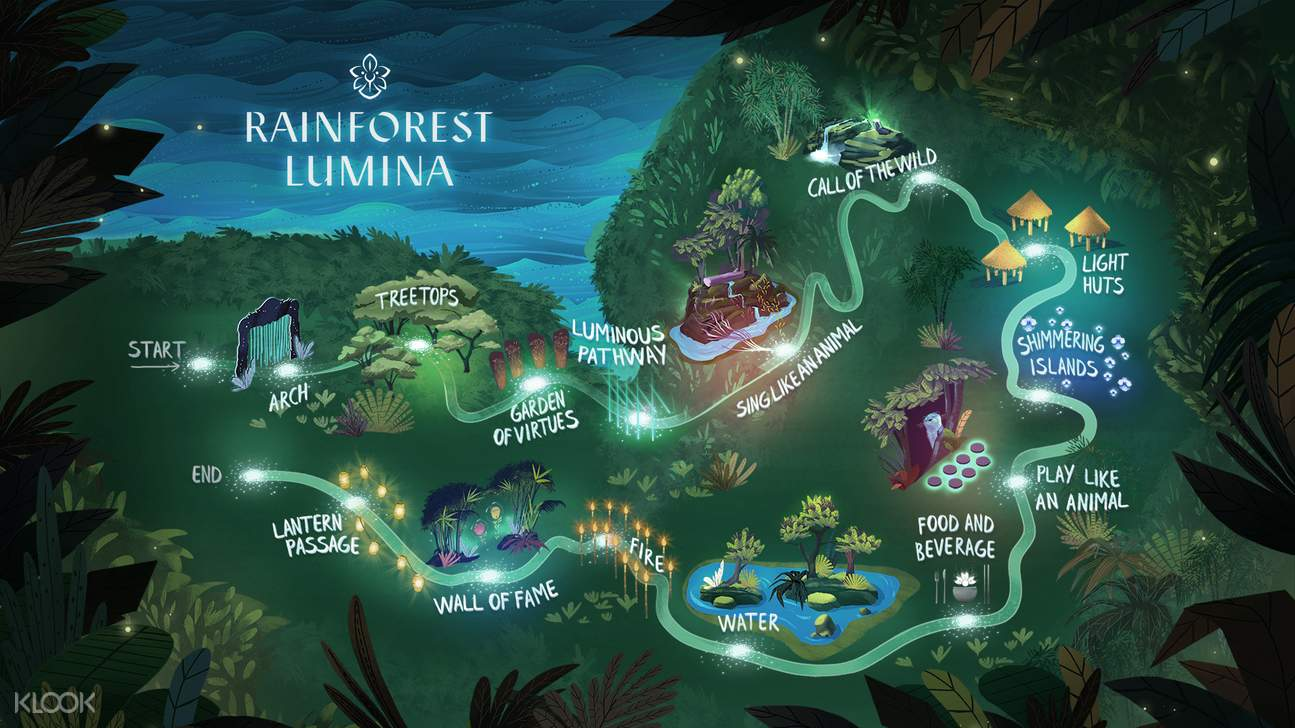 Rainforest Lumina map at Singapore Zoo