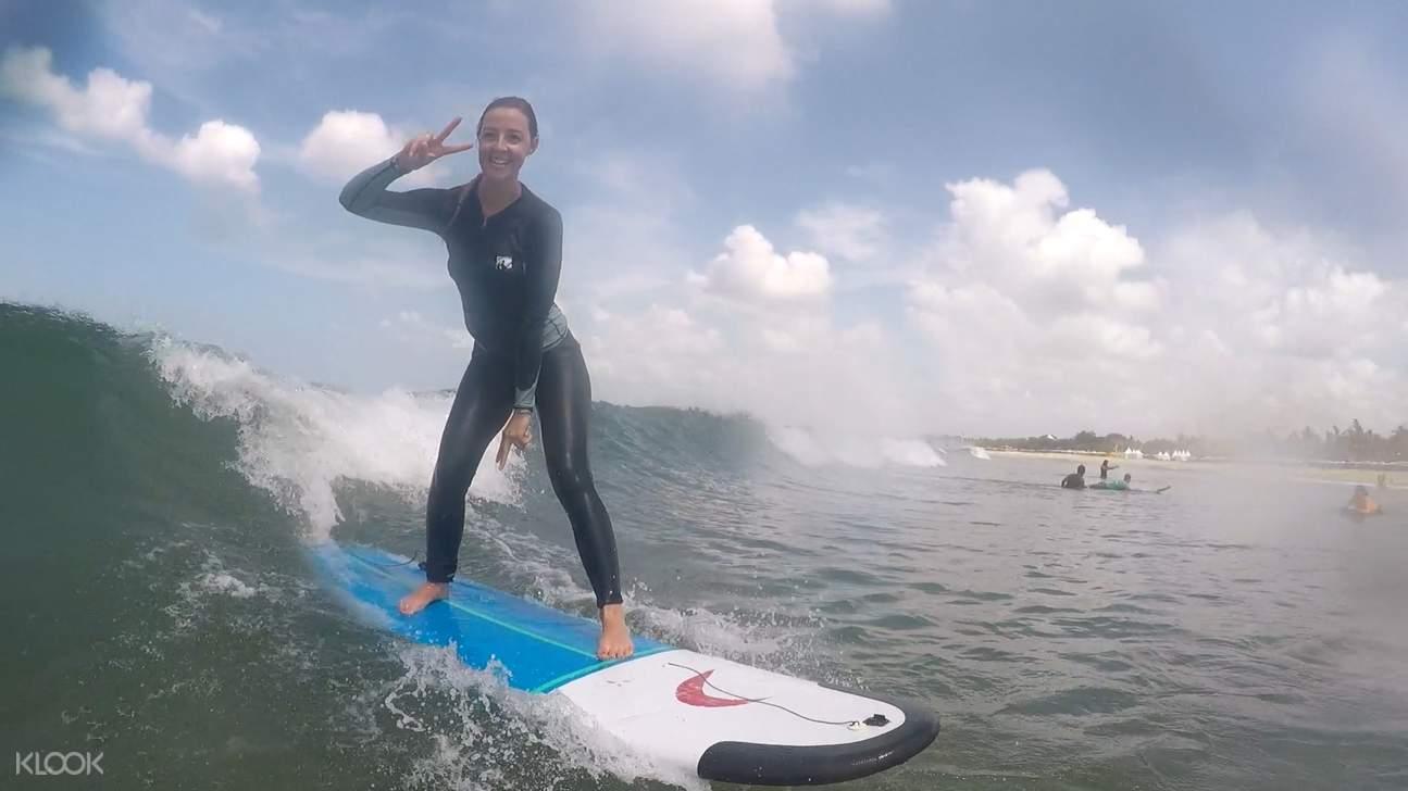 Surfing Lesson At Legian Beach Bali
