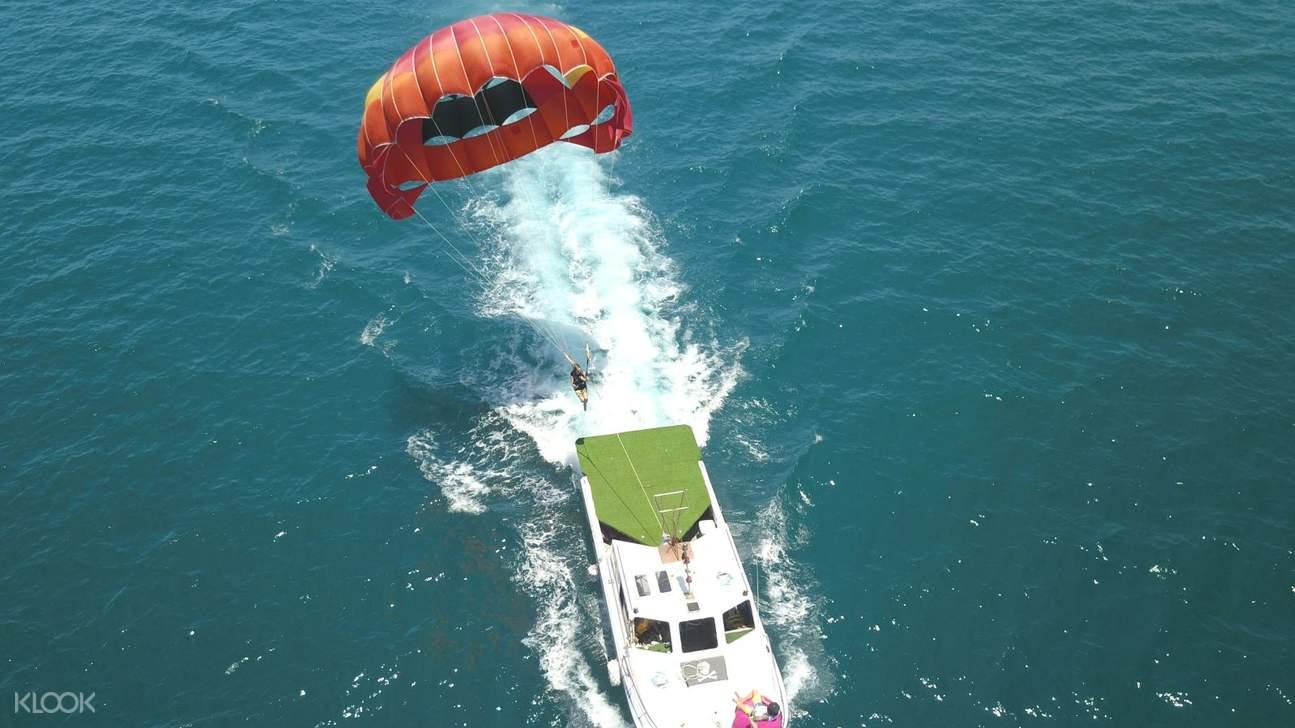 澎湖海上拖曳傘飛行體驗