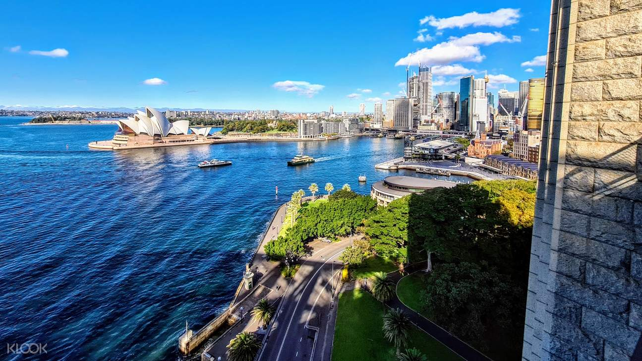 Circular quay and sydney opera house from the sydney harbour bridge