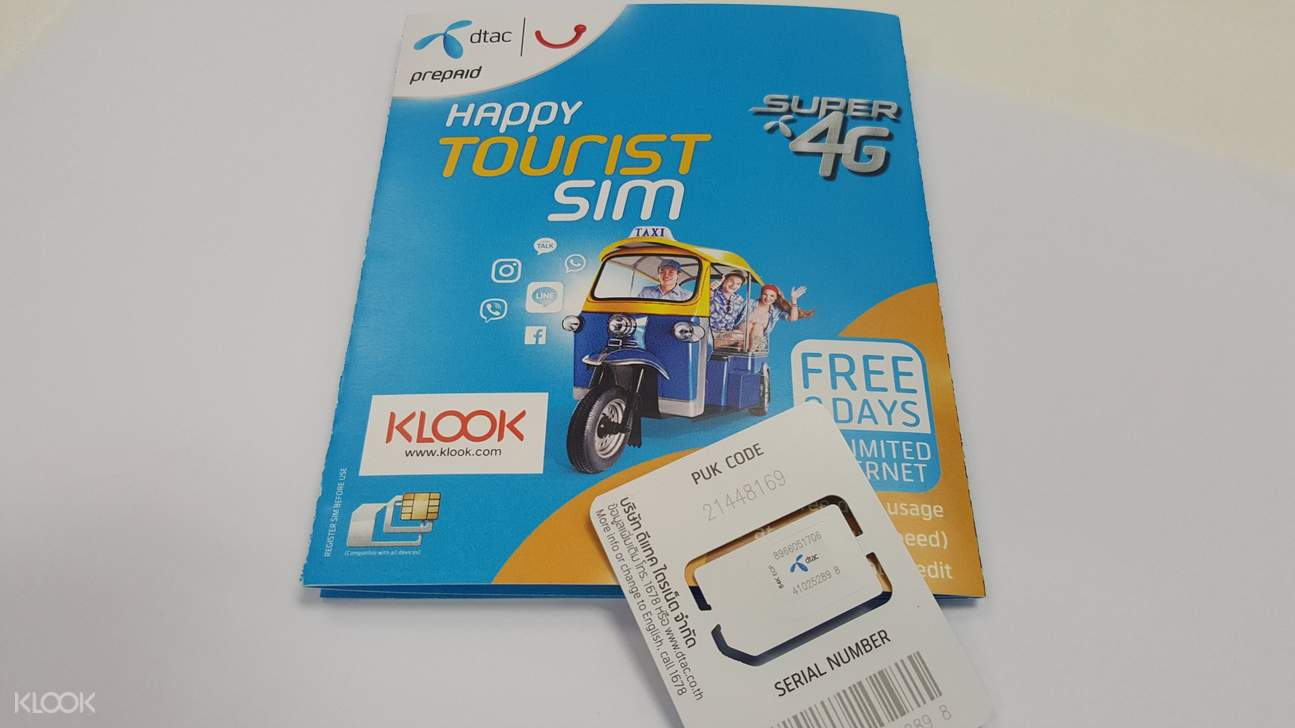 4G SIM Card (BKK/DMK Airport Pick Up) for Thailand