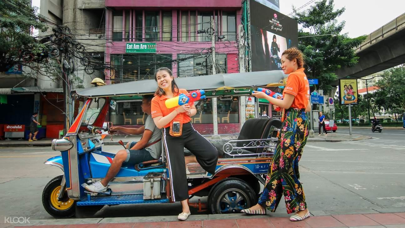 2018曼谷宋干節,曼谷寺廟祈福,曼谷嘟嘟車潑水節