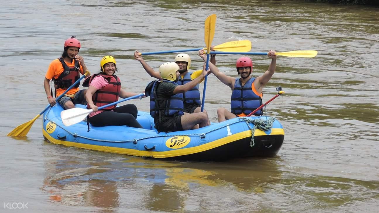 people rafting in mhadei river