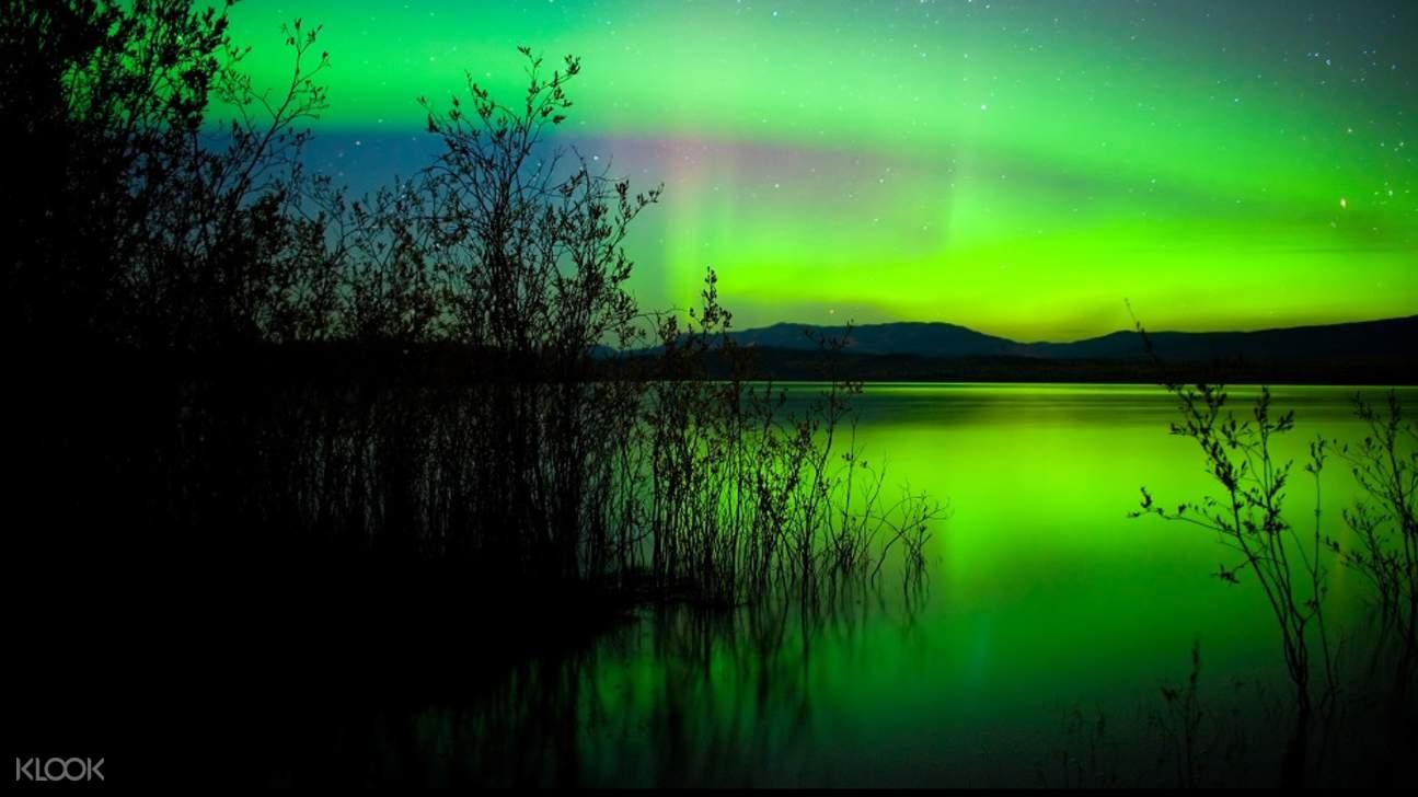 芬蘭湖畔桑拿,羅瓦涅米極光,極光桑拿