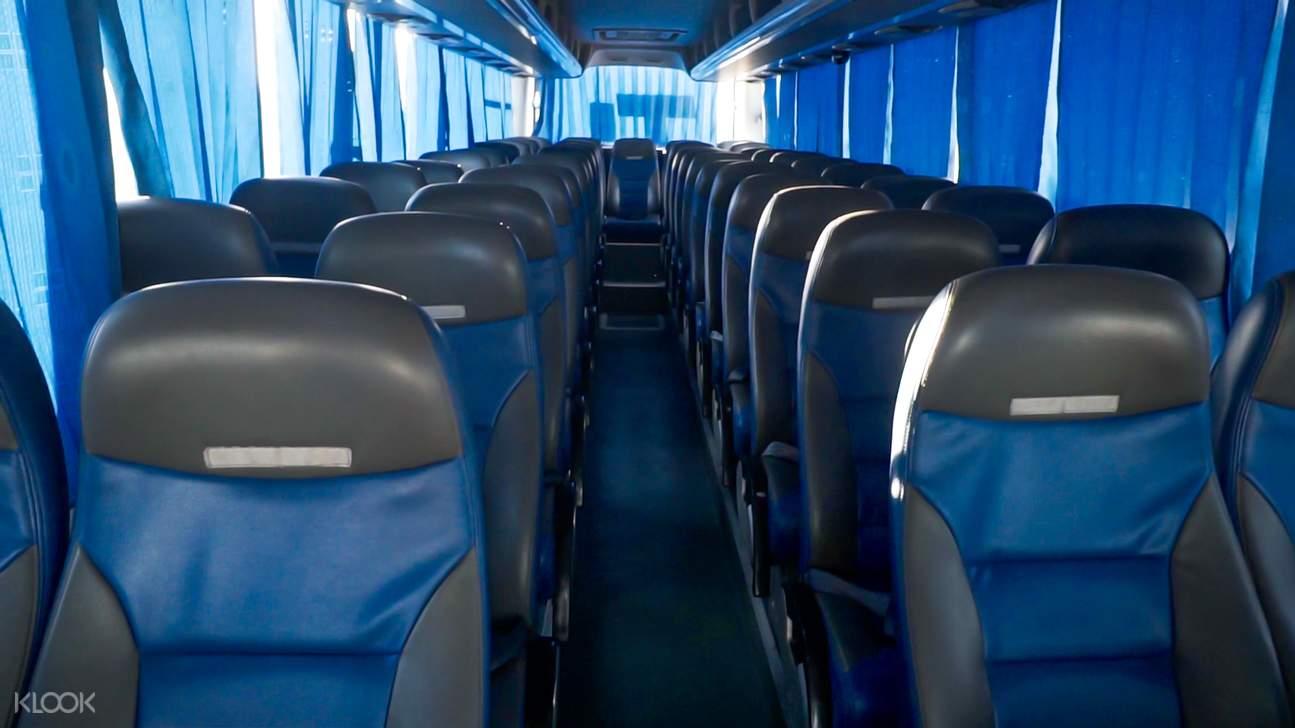 Southwest bus interior