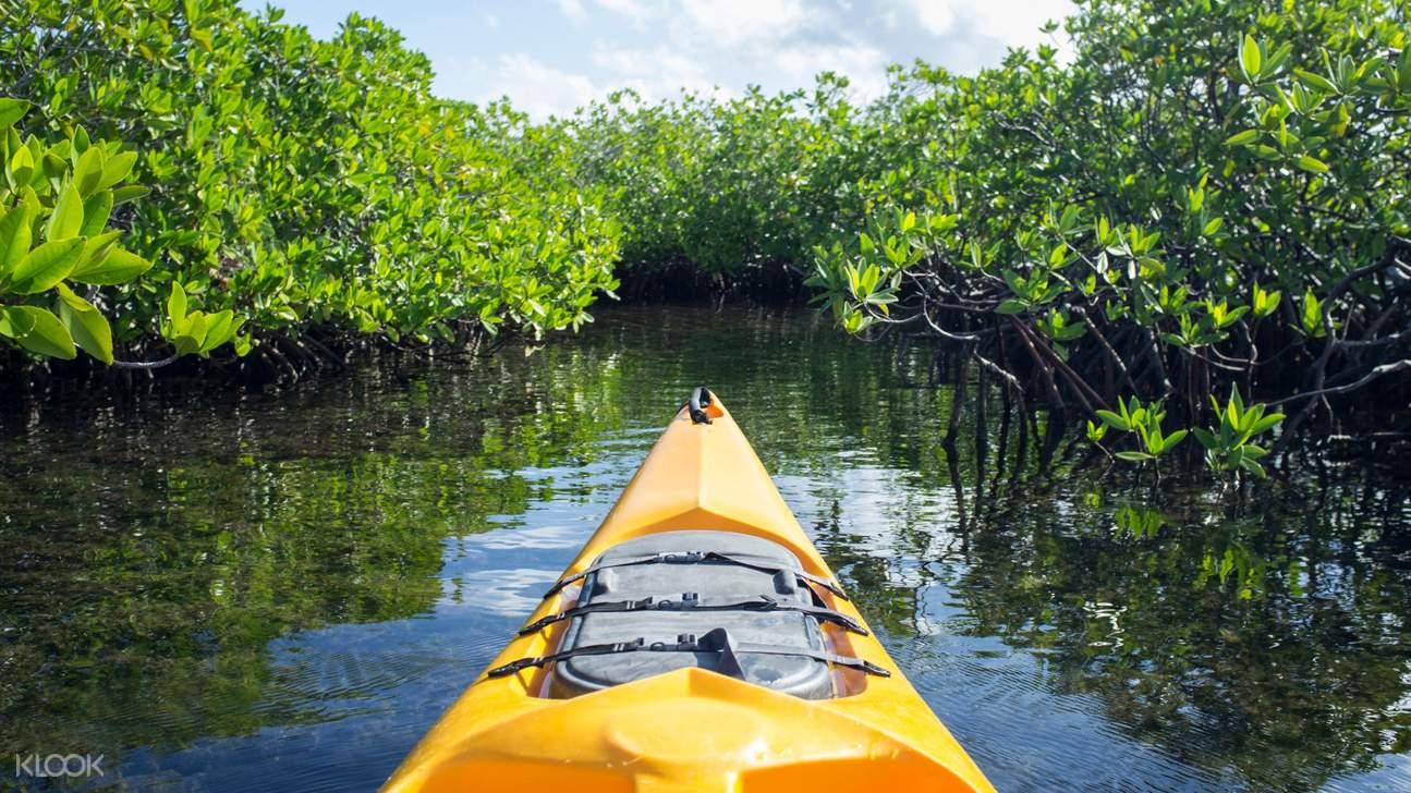 front of kayak in bentota