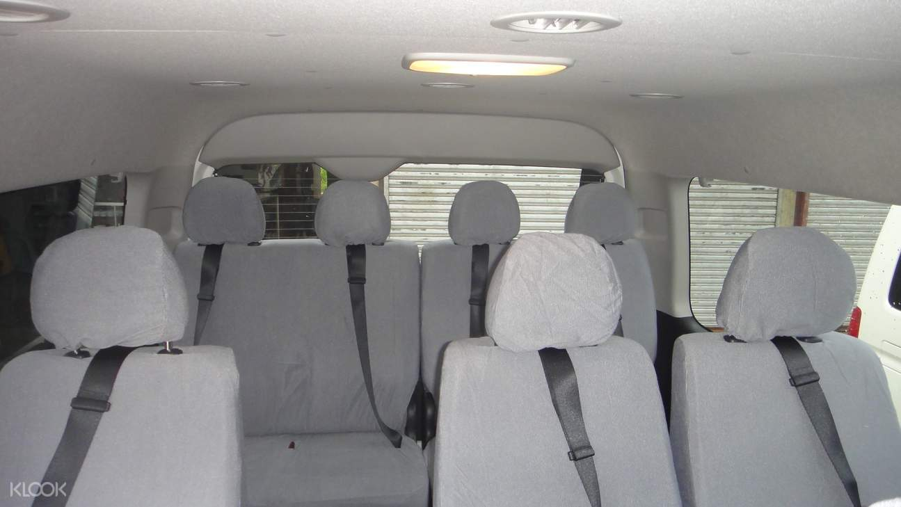 picture of seats inside a van