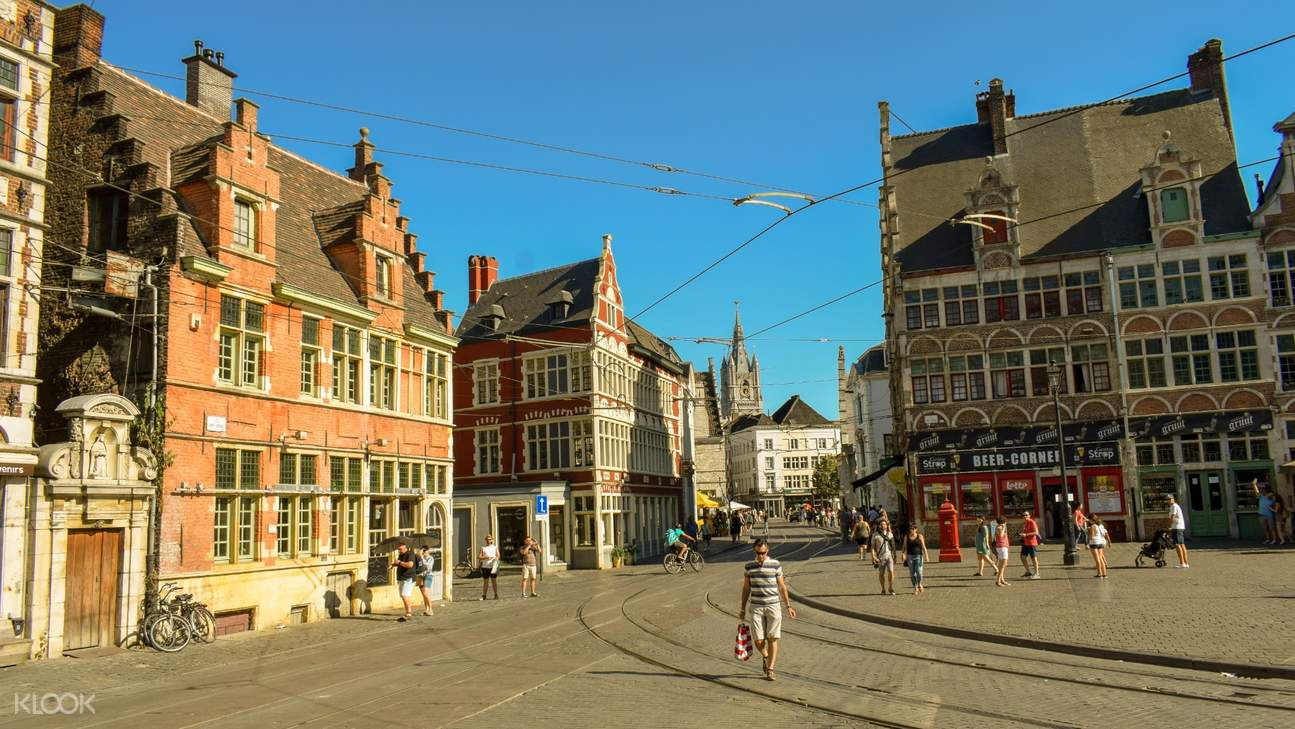 people walking the streets of ghent