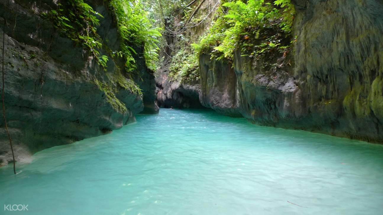 River at Badian Canyoneering Adventure and Kawasan Waterfalls Join In Tour from Cebu