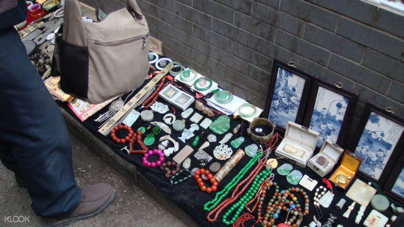 antiques being sold in Xiao Dongmen Antique Market