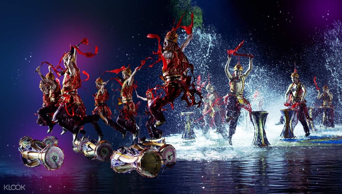 xi'an chang hen ge evening show ticket huaqing pool