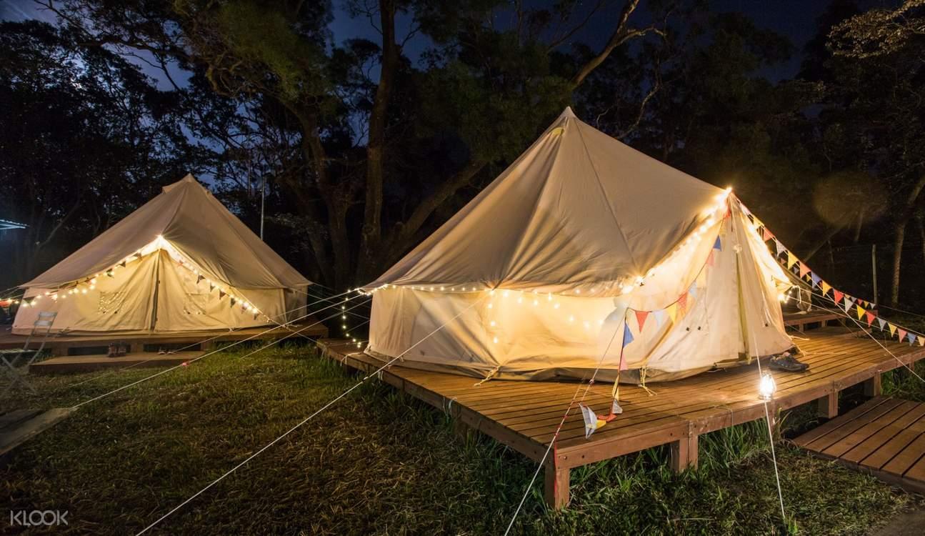 YHA Chek Keng Bell Tent at Night