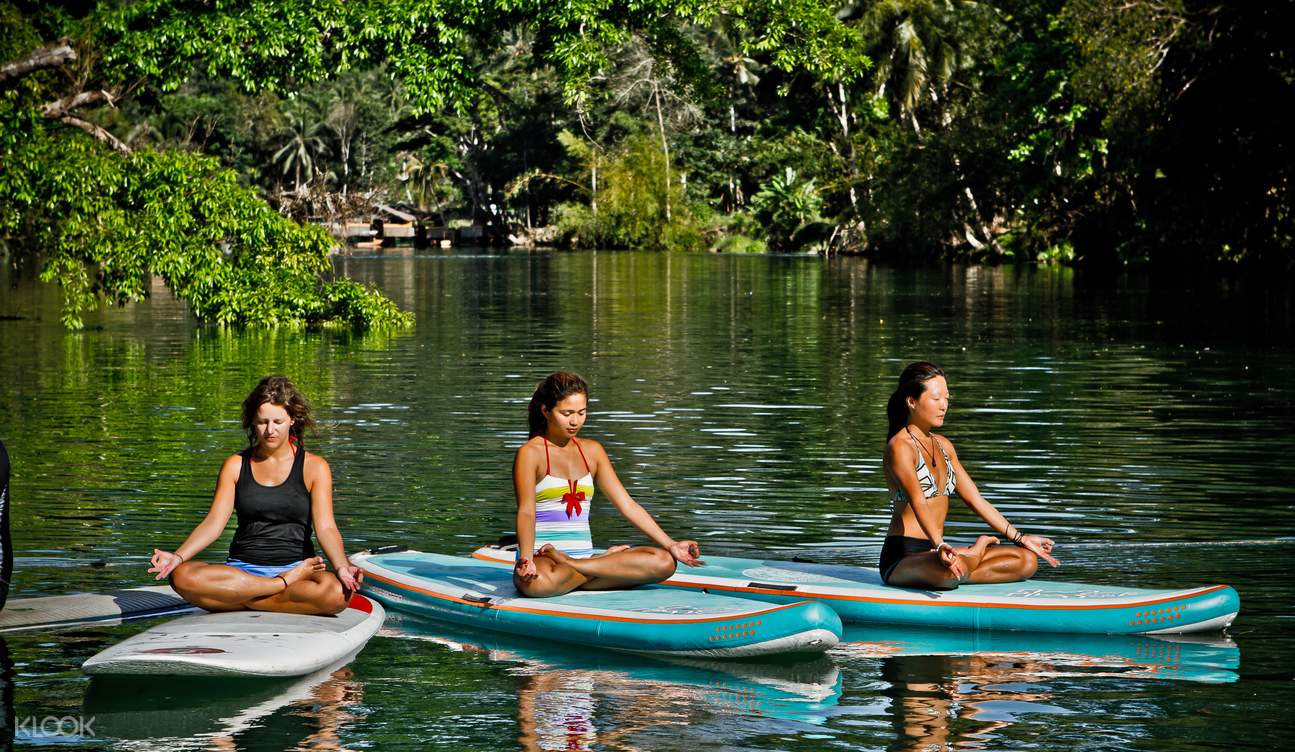 Stand Up Paddle Yoga Class on Loboc River