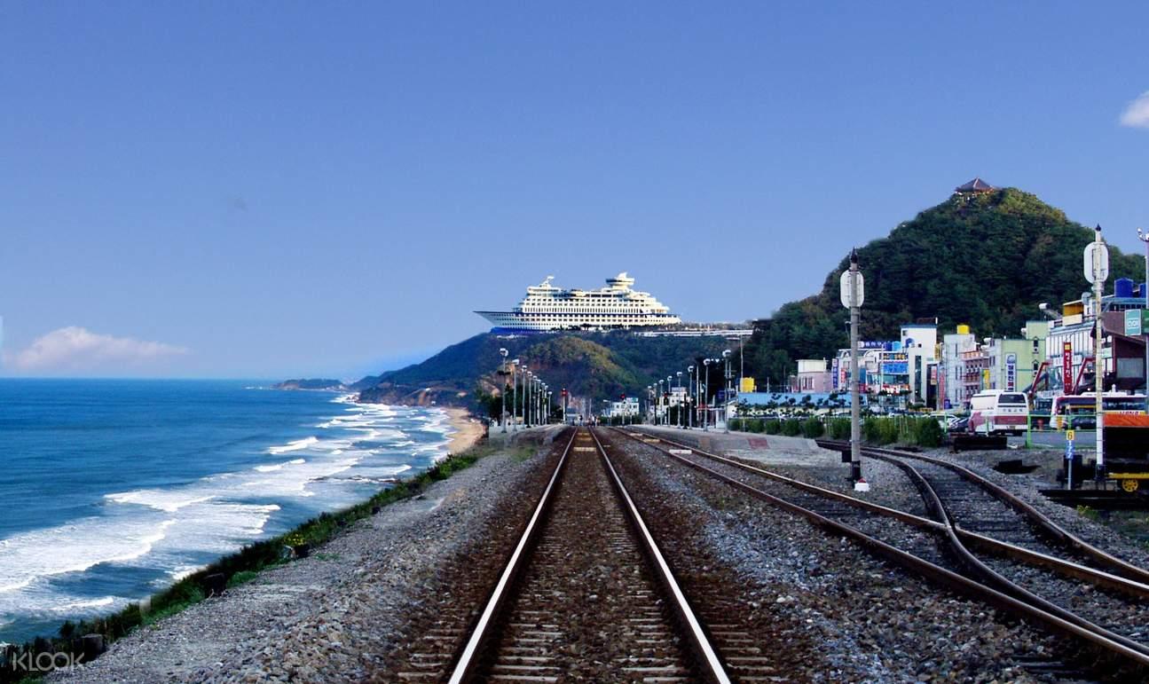 鏡浦台賞櫻,正東津海洋列車,江陵海濱,鬼怪拍攝地,注文津海邊
