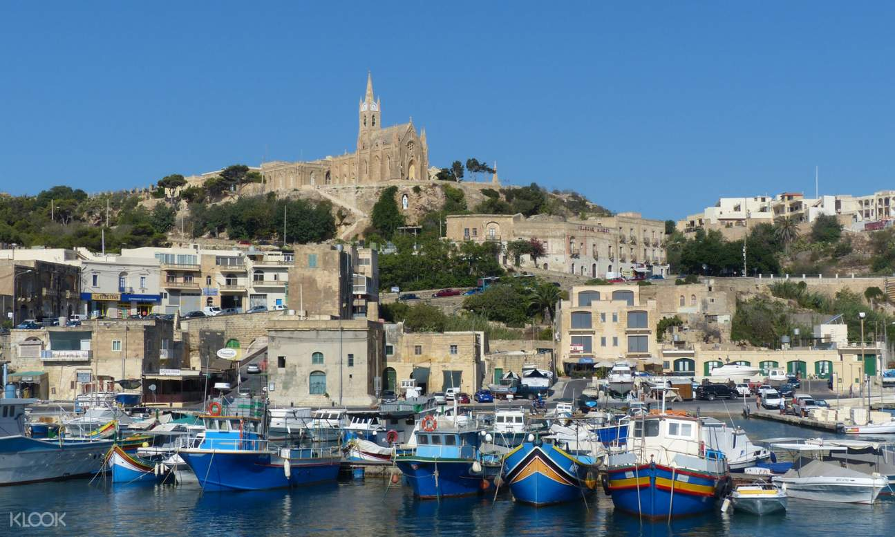 Gozo port and town