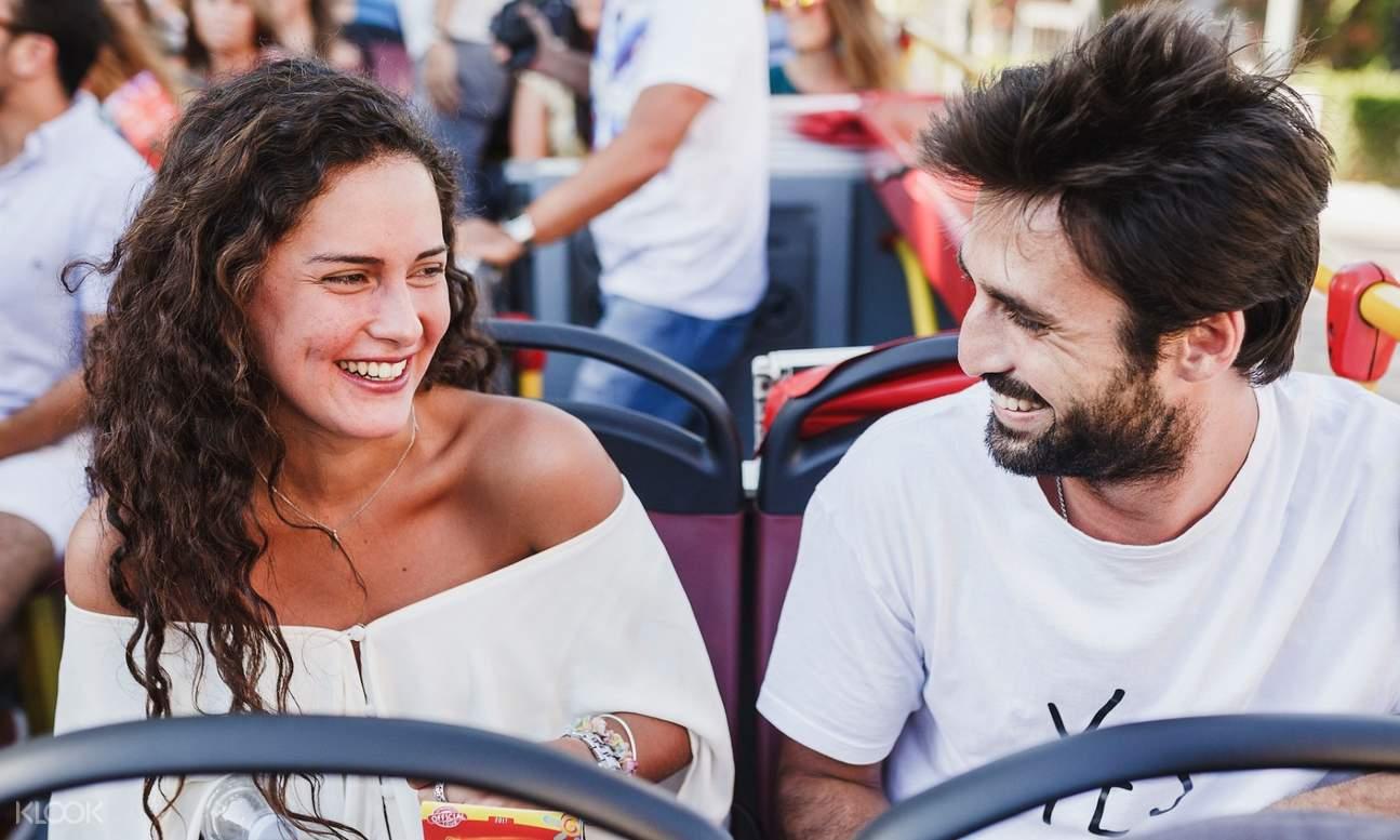 couple onboard Kazan Hop-On Hop-Off