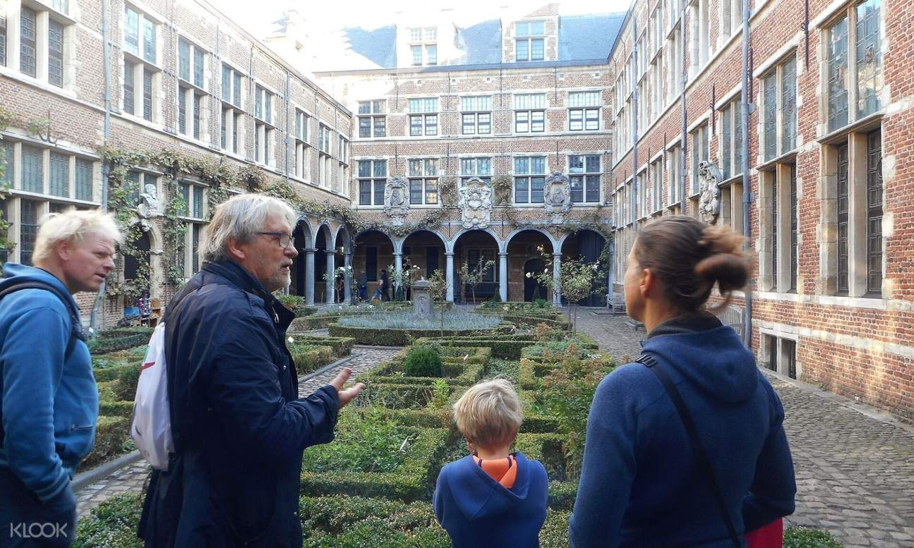 garden of Platin Moretus museum