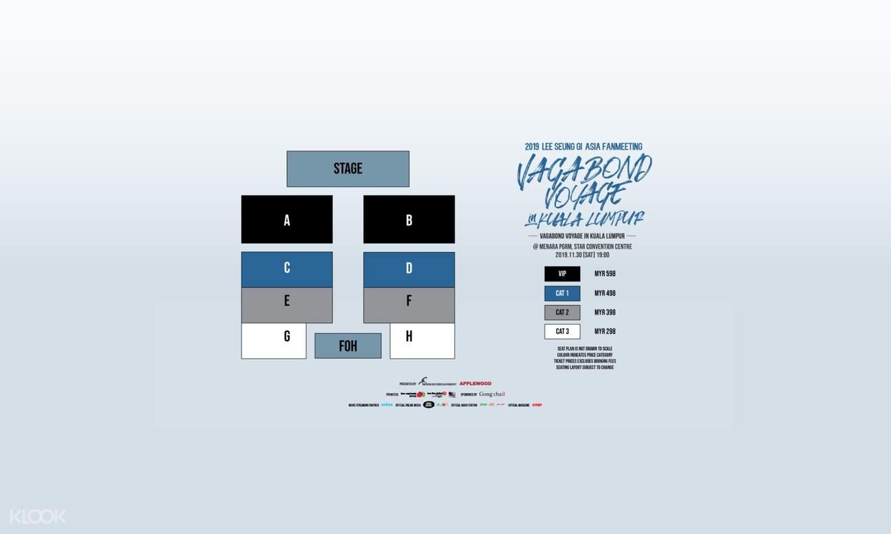 Lee Seung Gi Vagabond Voyage fan meeting seat plan Kuala Lumpur