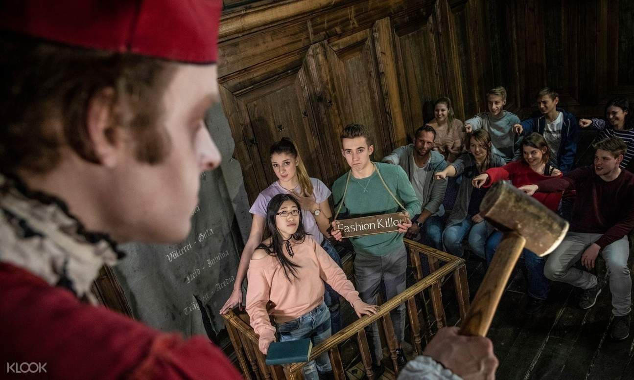 actors acting out a scene in the dungeon